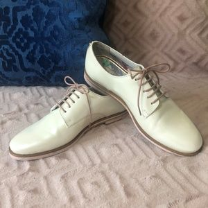 Ted Baker Loomi White Patent Oxfords